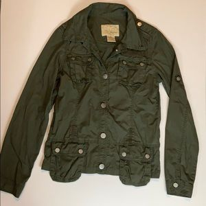 Daytrip BKE Olive Green Utility Button Up Jacket